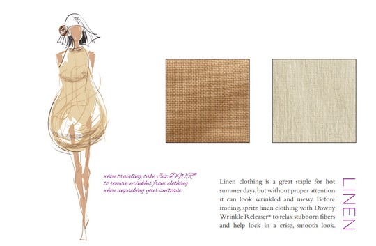 A page from the Fabric Guide by Janie Bryant